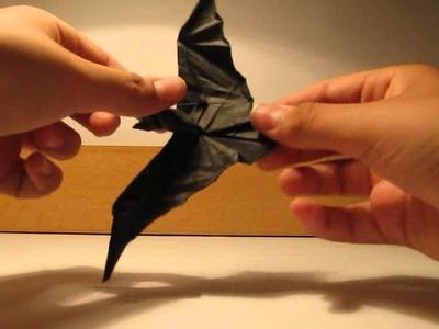 Origami bat,crane and squid