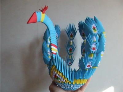 Origami - modular - chinese origami - peacock - tutorial - dutchpapergirl