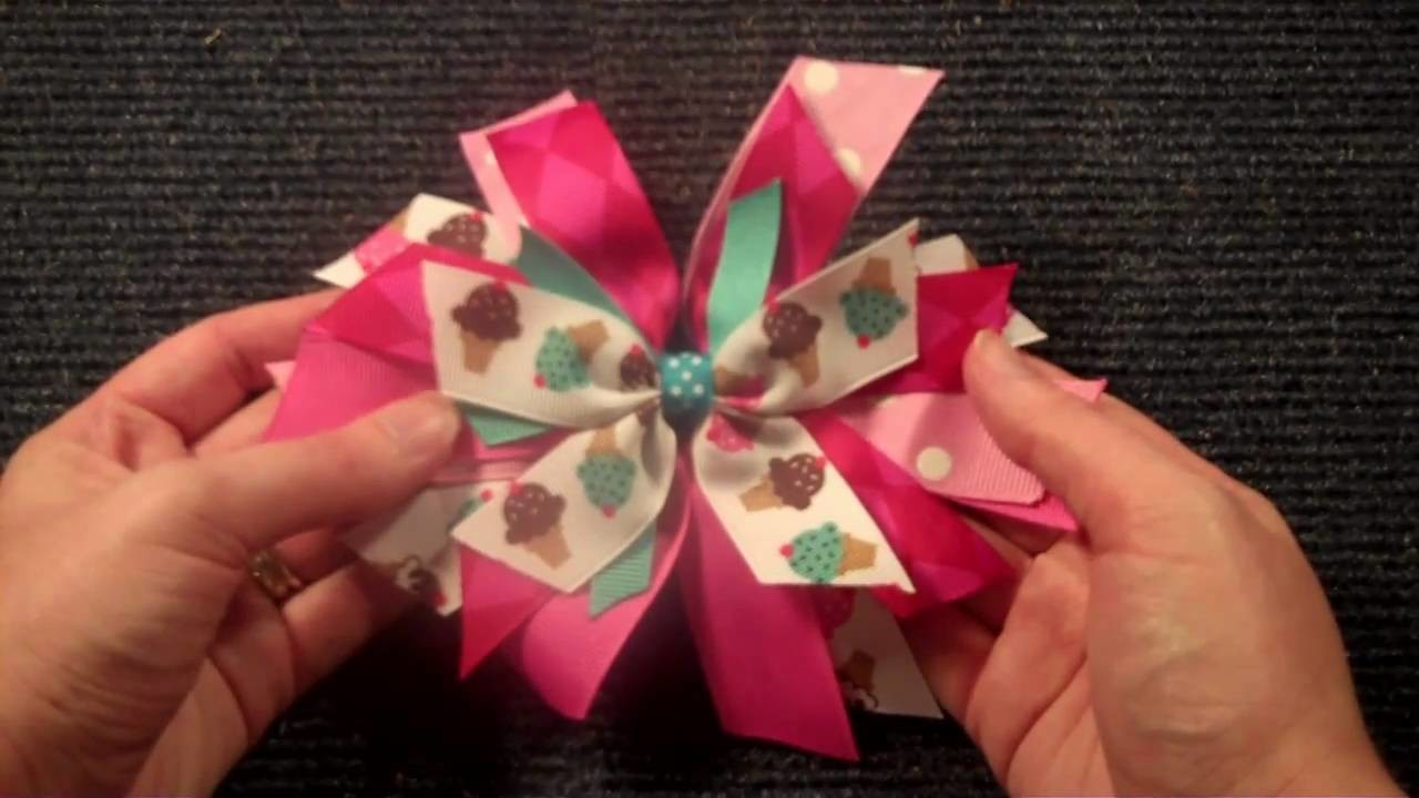 Pinwheel Style hairbow tutorial V.2 (hair bow instructions.tutorial)
