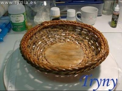 """Porcelana Fria: Como hacer Cesta. Cold porcelain """"How to make a basket"""""""