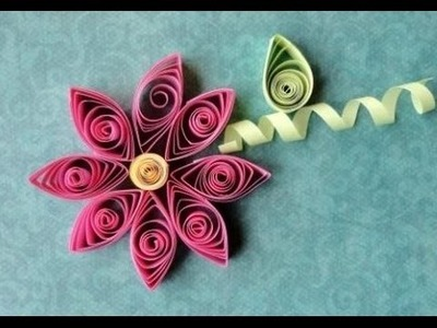 Quilling Made Easy # How to make Beautiful Pink Flower using Paper Art Quilling -Paper Art
