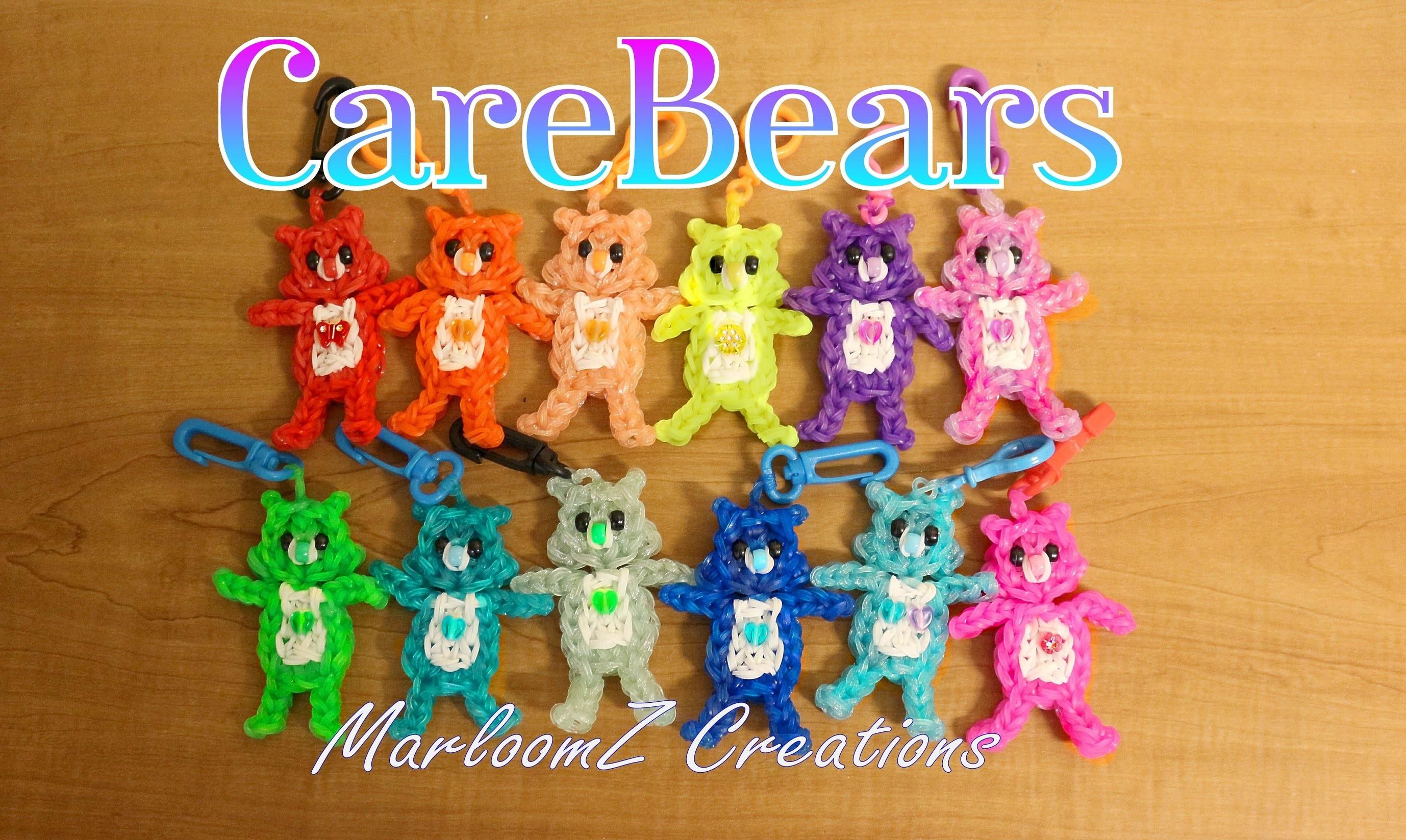 Rainbow Loom Care Bears Tutorial. How To using loom bands