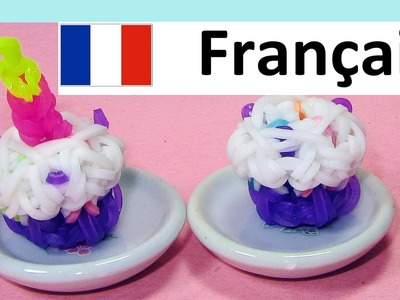 Rainbow Loom - Francais: 3D Gateau. Bracelet Elastique. Loom Bands Gateau