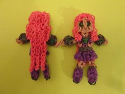 Rainbow Loom Starfire Teen Titans Go! Charm.