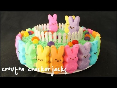 Rainbow Peeps Cake!! How to Make a Rainbow Peep Cake for Easter