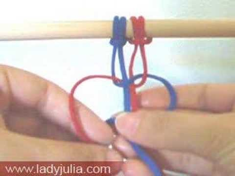 Square knot with four cords