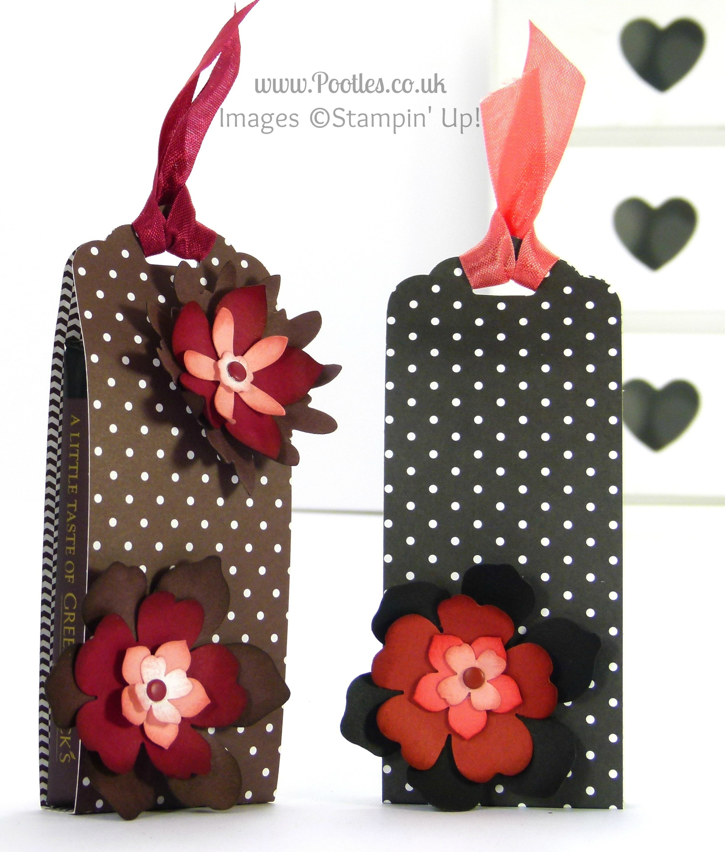 Stampin' Up! UK Green and Blacks Chocolate Pouch Tutorial