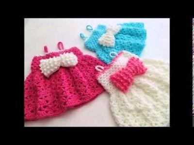The Little Bow Peep Dress, Crochet Baby Dress Pattern