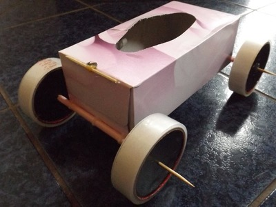Tissue Box Rubber Band Powered Car