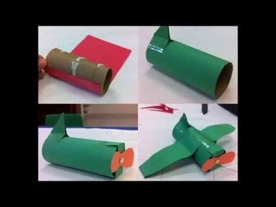 TUBOS DE PAPEL HIGIENICO MANUALIDADES.Recycle cardboard of the toilet paper tubes