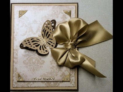 Wedding or Special Occasion Elegant Handmade Card