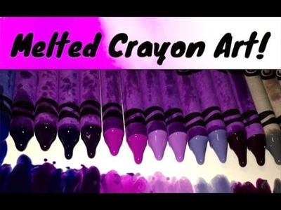 100 Crayons Melted Art Science ~ DIY Experiment Incredible Science