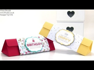 18cm 7inchTriangular Box Tutorial by Stampin' Up! UK Independent Demonstrator Pootles