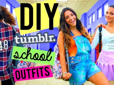 Back to School: Easy DIY Clothes! (Tumblr Inspired) | Niki and Gabi