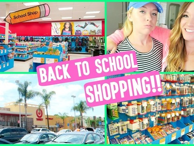 BACK TO SCHOOL SHOPPING!!! SCHOOL SUPPLIES + BEHIND THE SCENES!
