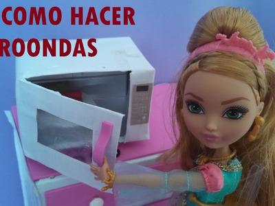 COMO HACER MICROONDAS PARA MUÑECAS BARBIE, MONSTER Y EVER AFTER HIGH