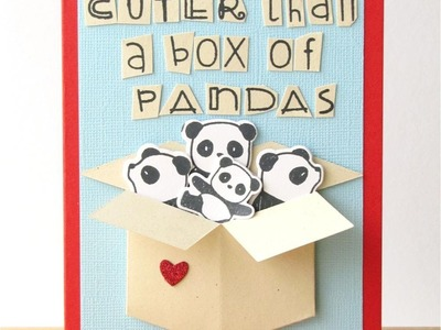 {Crafts for Kids} Valentine's Card by Hubby, Video by Damian!