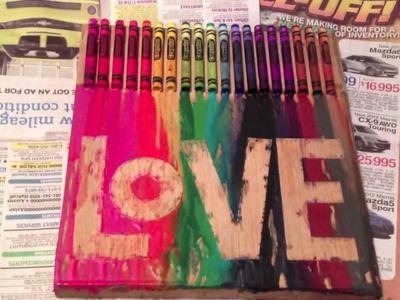 Crayon Melting Painting #1!