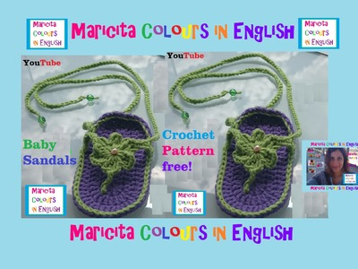 """Crochet Baby Sandals """"Nora"""" (Part 1) by Maricita Colours in English"""