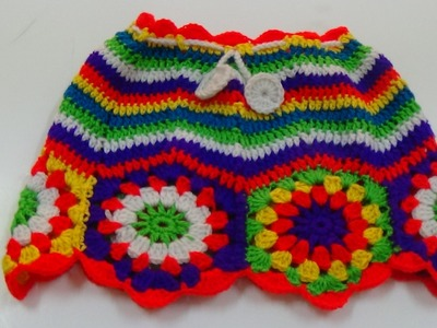 CROCHET  CHEVRON STITCH  SKIRT-2
