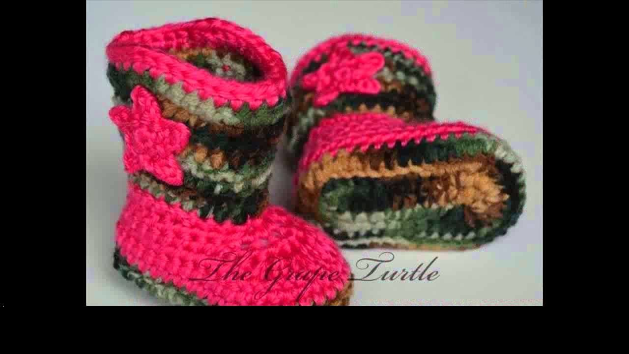 Crochet patterns for baby booties
