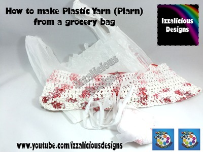 Crochet with plastic yarn (PLARN) made from Grocery | Shopping bags