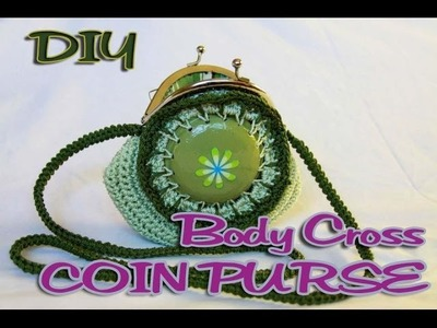 DIY: Body Cross Coin Purse made with Soda Can Bottoms part 2