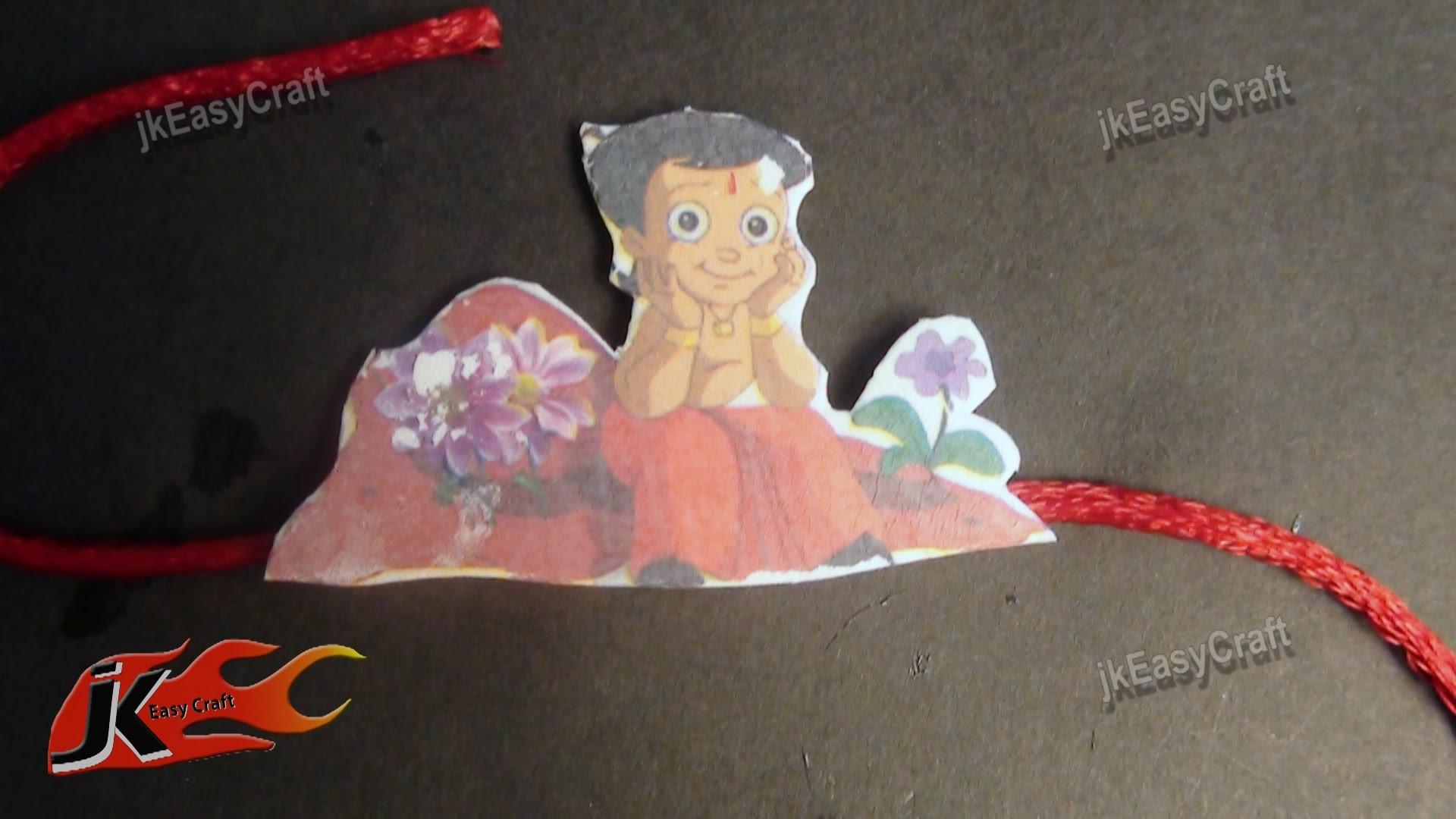 DIY   Chhota Bheem Rakhi For Kids   How to make  JK Easy Craft 025