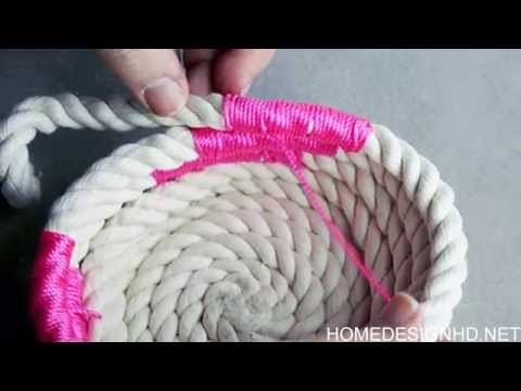 DIY Chic  How to Make a Coiled Rope Basket