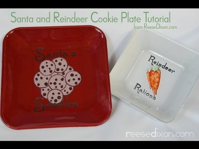 DIY Christmas gift for friends: Painted Cookie Plate!