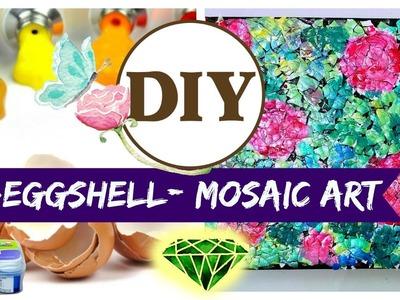 ♥DIY-EGG-SHELL MOSAIC ART : Room Decor