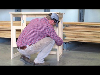 DIY Folding Woodworking Table with Swapping Tops for Router Table, Down-Draft Sanding, or Work Table