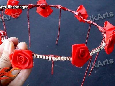 DIY Fresh Flower Tiara. Crown. Mukut | How to make - JK Arts 515