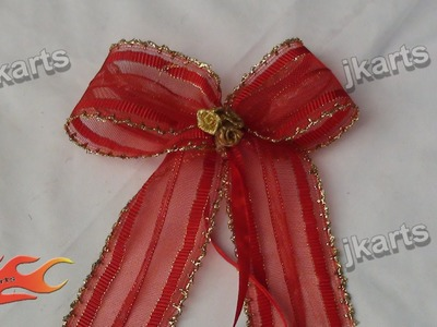 DIY  How to Make a Bow out of Ribbon  - JK Arts 199