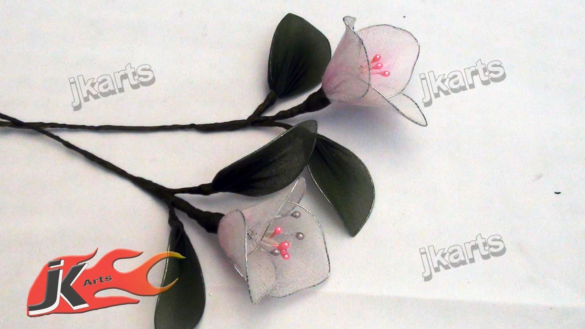 DIY How to make bougainvillea Stocking Flower - JK Arts 092