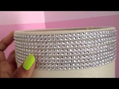 DIY~ How to Sparkle & Bling Out a Lamp Shade ~ by The Frugalnista!