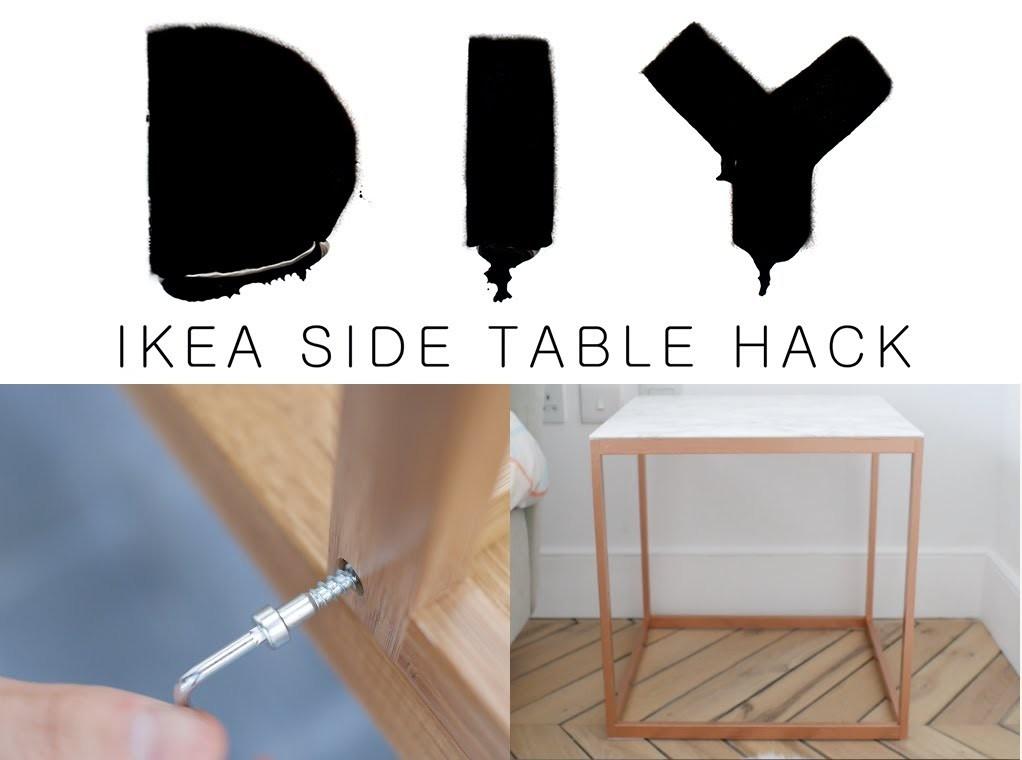 DIY IKEA SIDE TABLE HACK | essiebuttonvlogs