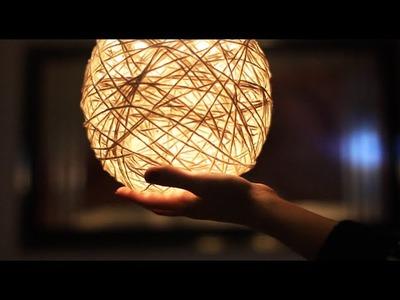 DIY: Luminária de Barbante | Aprenda a fazer