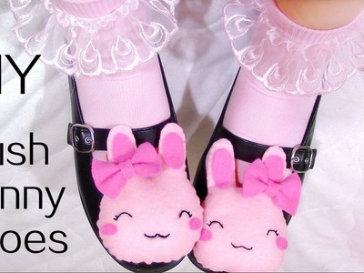 DIY Plush Bunny Shoes (Detachable) | Halloween DIY