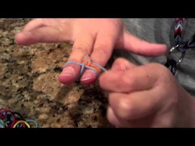 Easy How to make a fishtail rainbow loom bracelet without loom