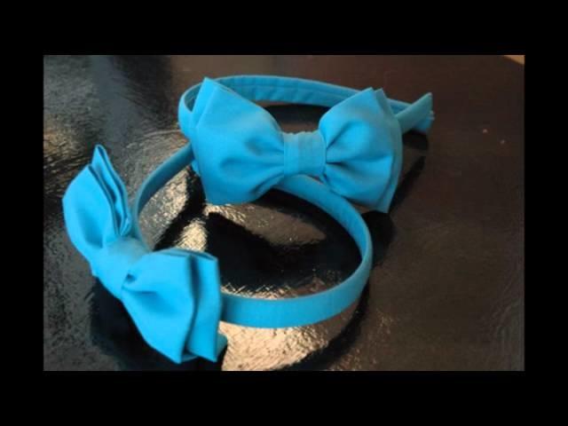 Felpas para el pelo. Made in Spain. Complementos para niñas.Crafts Ribbon Woven Headbands.