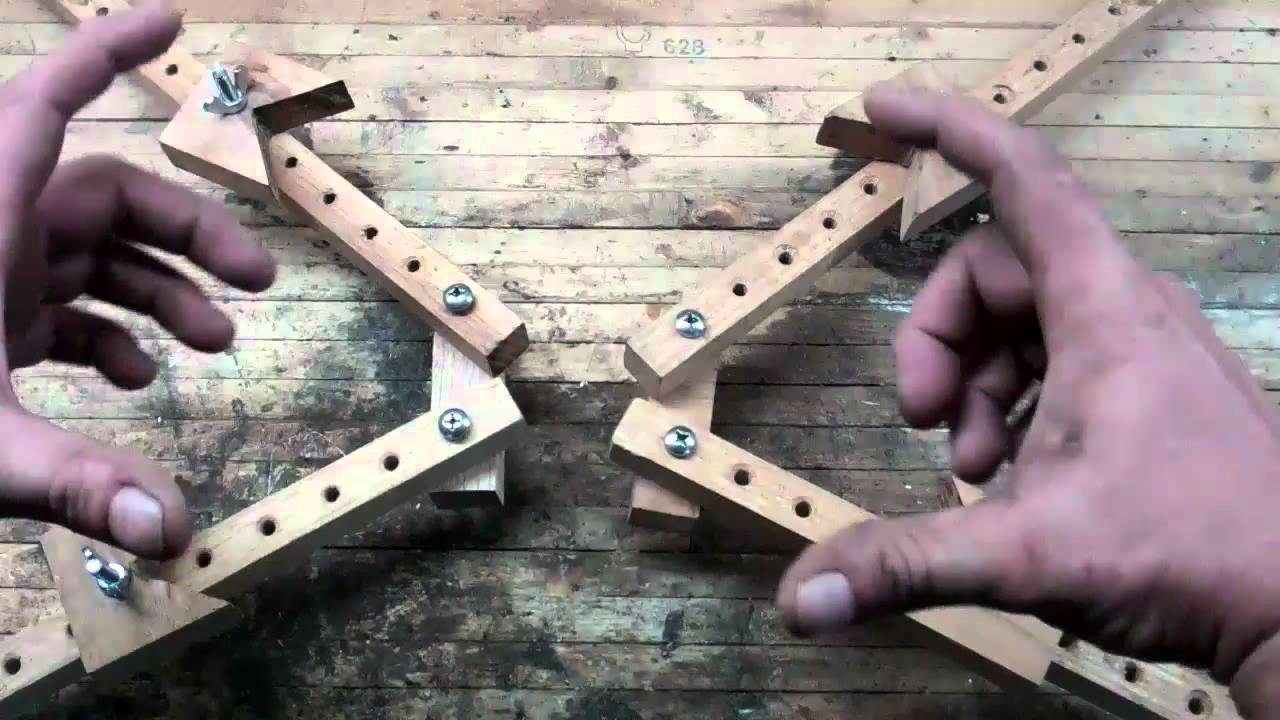 Home made tools. Oak frame clamps