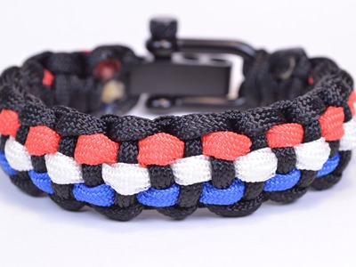 How to Add 3 Colors to the Basic Solomon Paracord Survival Bracelet - Bored?Paracord!