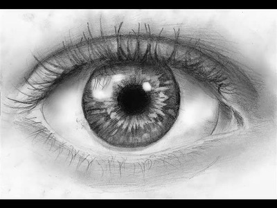 How to draw a Realistic Eye (Step by Step)