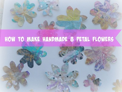 How to make 8 petal flowers without a paper punch. Easy DIY.Handmade Paper Flowers