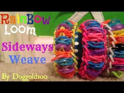 How To Make a Sideways Weave Rainbow Loom Bracelet