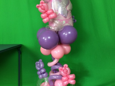 How To Make a Super Cute Baby Shower Balloon Centerpiece