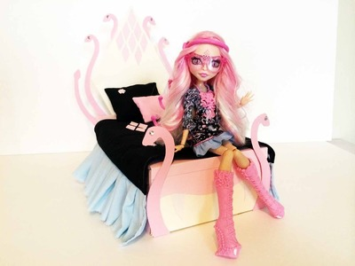 How to make a Viperine Gorgon Doll Bed Tutorial. Monster High
