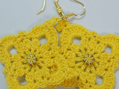 How To Make Cute Sunshine Crocheted Earrings - DIY Style Tutorial - Guidecentral
