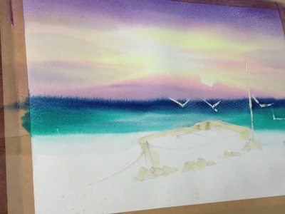Howto painting sea in watercolor